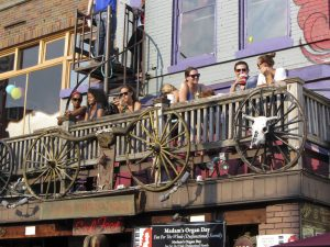 group of people on a Balcony Dining